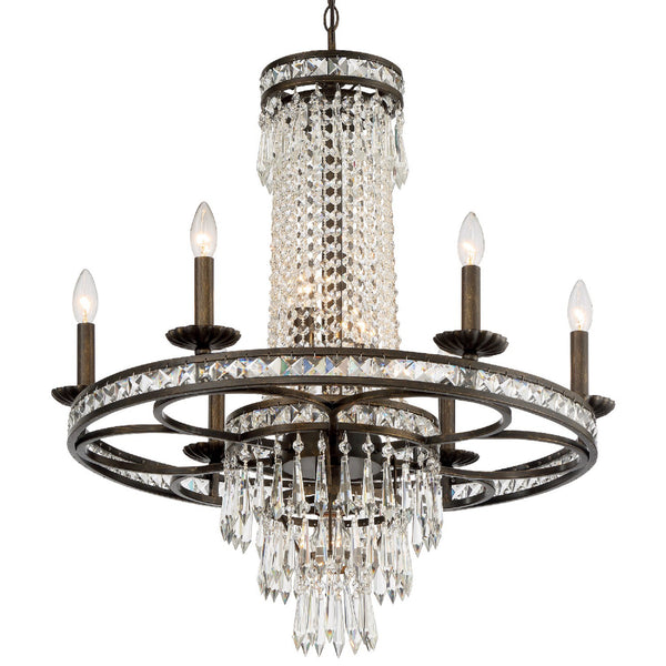 Crystorama 5266-EB-CL-MWP Mercer Chandelier in English Bronze