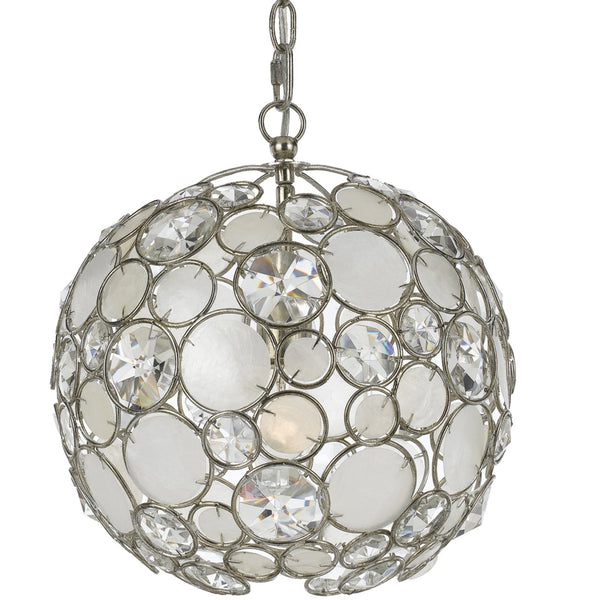 Crystorama 527-SA Palla Mini Chandelier in Antique Silver