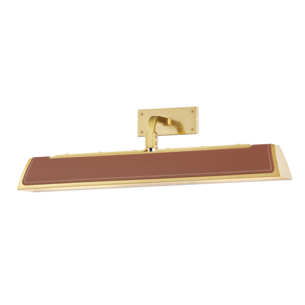 Hudson Valley Lighting 5324-AGB Holtsville 2 Light Wall Sconce W/ Saddle Leather in Aged Brass