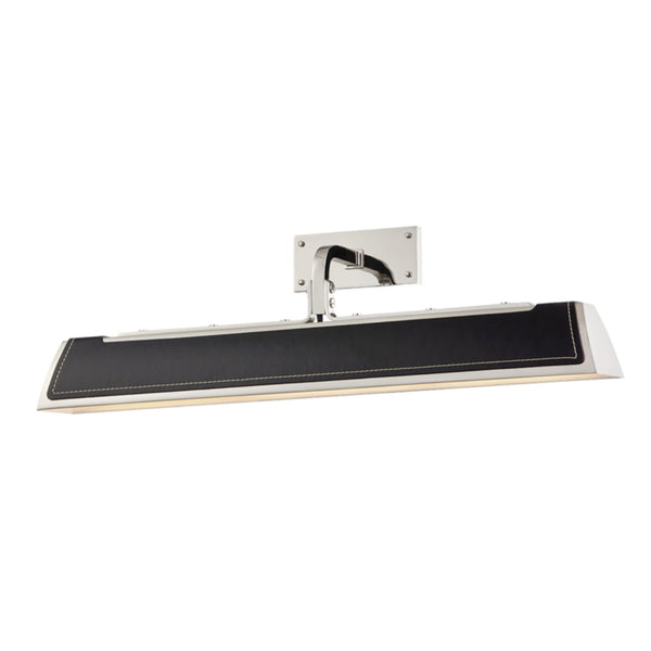 Hudson Valley Lighting 5324-BN Holtsville 2 Light Wall Sconce W/ Black Leather in Burnished Nickel