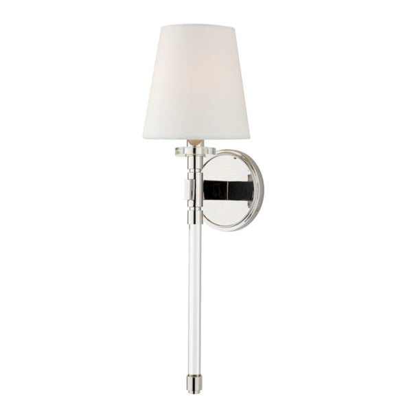 Hudson Valley Lighting 5410-PN Blixen 1 Light Wall Sconce in Polished Nickel