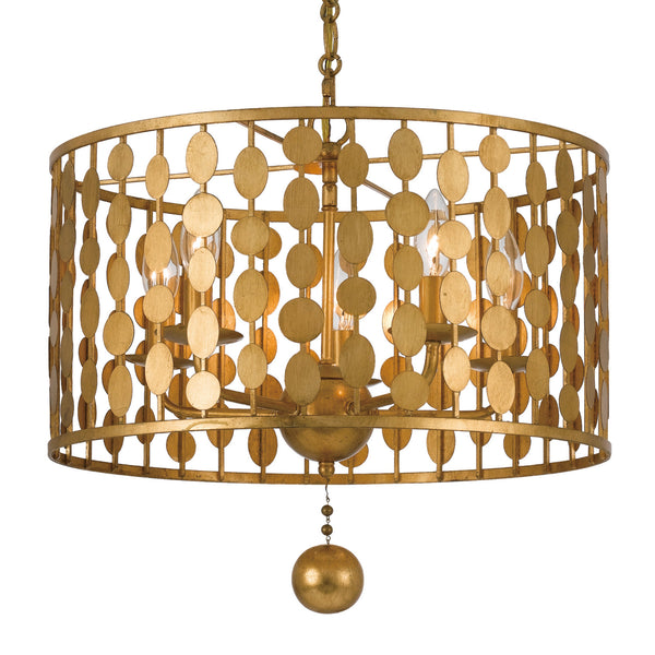 Crystorama 545-GA Layla Chandelier in Antique Gold
