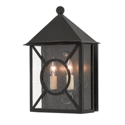 Currey and Company 5500-0003 Ripley Medium Outdoor Wall Sconce in Midnight