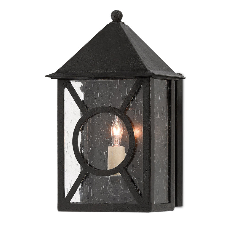 Currey and Company 5500-0004 Ripley Small Outdoor Wall Sconce in Midnight