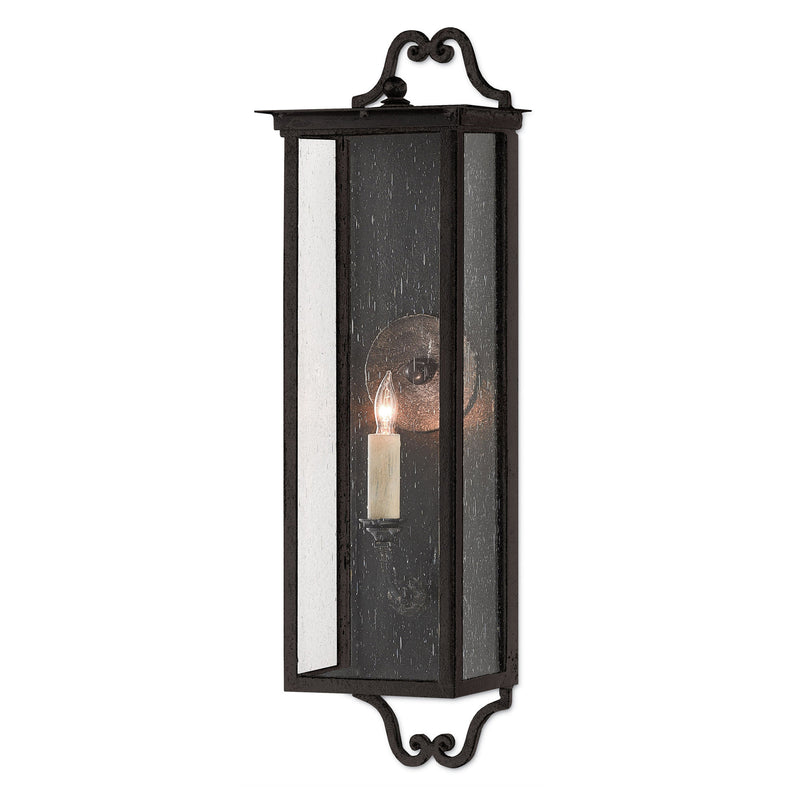 Currey and Company 5500-0009 Giatti Small Outdoor Wall Sconce in Midnight