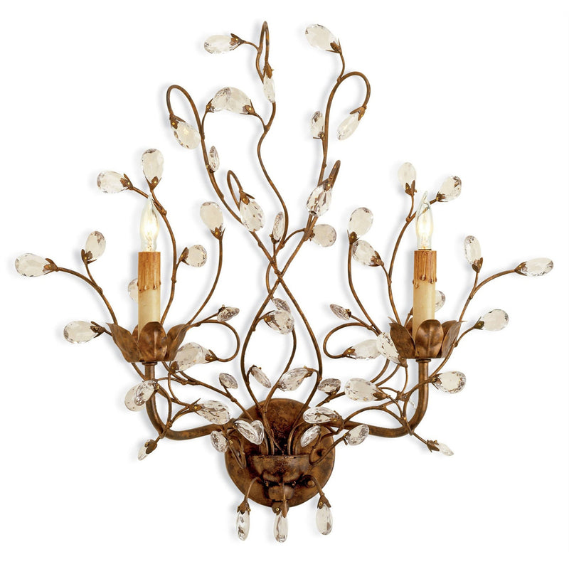 Currey and Company 5882 Crystal Bud Wall Sconce in Cupertino