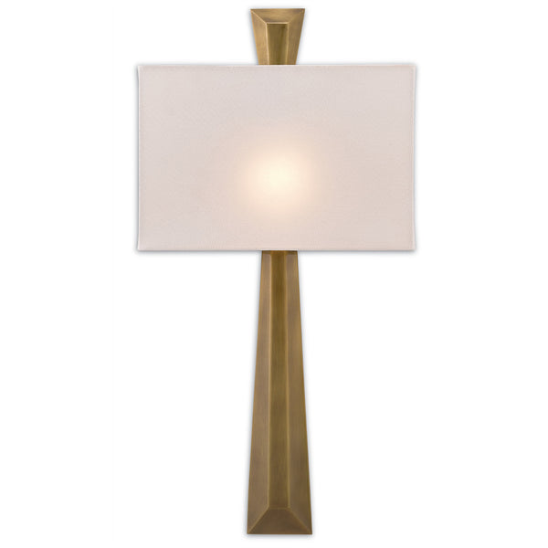 Currey and Company 5900-0016 Arno Brass Wall Sconce in Polished Antique Brass