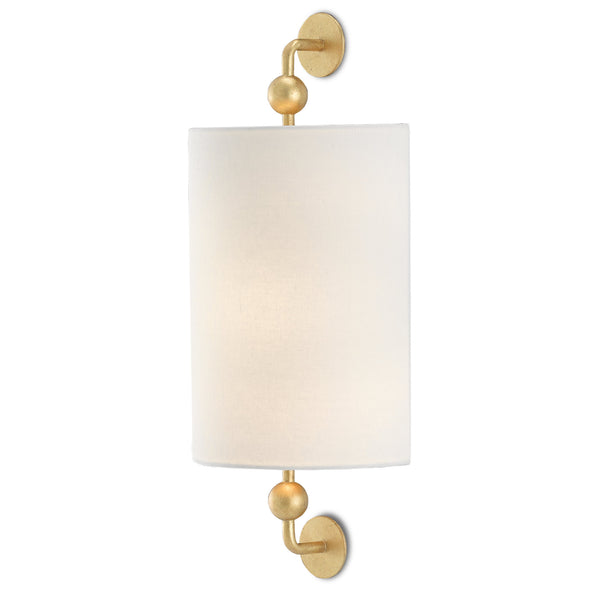 Currey and Company 5900-0031 Tavey Gold Wall Sconce in Contemporary Gold Leaf