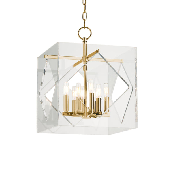Hudson Valley Lighting 5916-AGB Travis 8 Light Pendant in Aged Brass