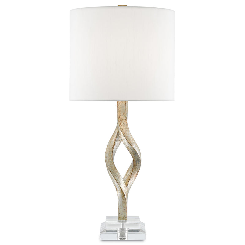 Currey and Company 6000-0071 Elyx Table Lamp in Chinois Silver Leaf