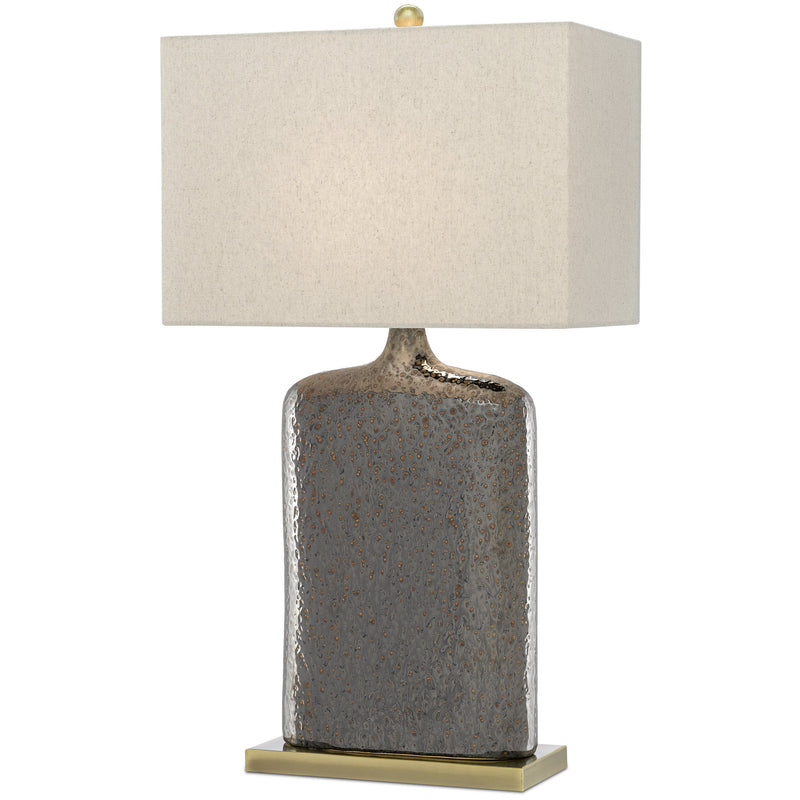 Currey and Company 6000-0094 Musing Table Lamp in Rustic Metallic Bronze