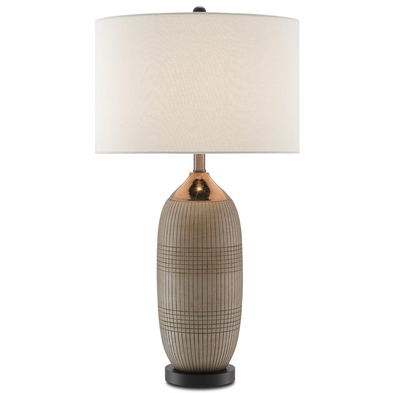Currey and Company 6000-0096 Alexander Table Lamp in Matte & Glossy Gold/Black