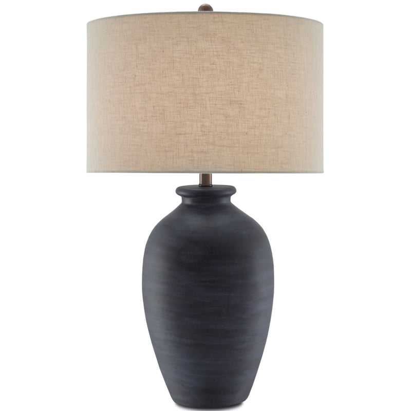 Currey and Company 6000-0196 Cyanic Table Lamp in Scarab Blue/Bronze
