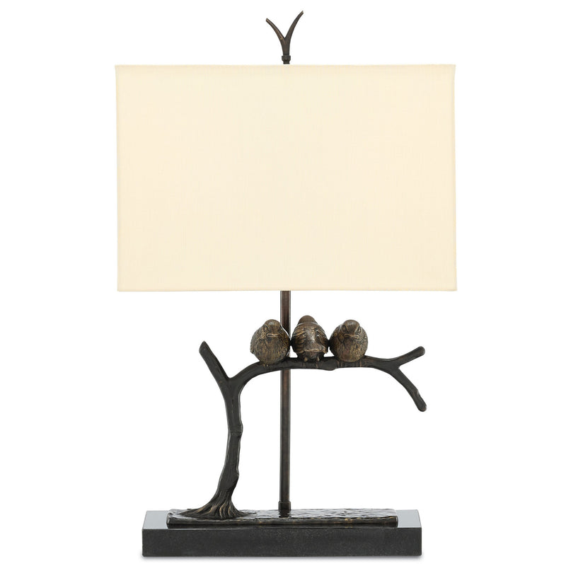 Currey and Company 6000-0240 Sparrow Table Lamp in Bronze/Black