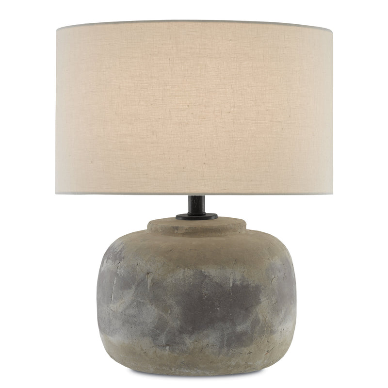 Currey and Company 6000-0272 Beton Table Lamp in Antique Earth
