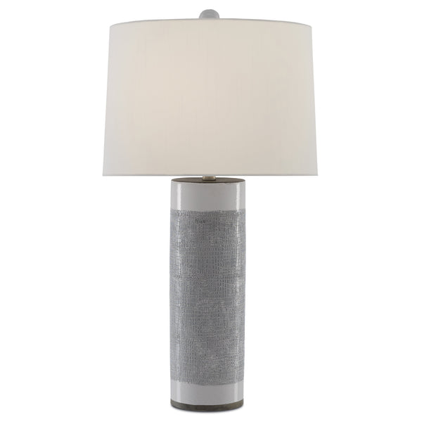 Currey and Company 6000-0422 Westmoore Table Lamp in Putty/White/Contemporary Silver Leaf