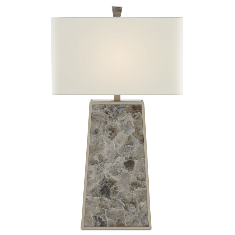 Currey and Company 6000-0429 Calloway Table Lamp in Light Mica/Silver Leaf