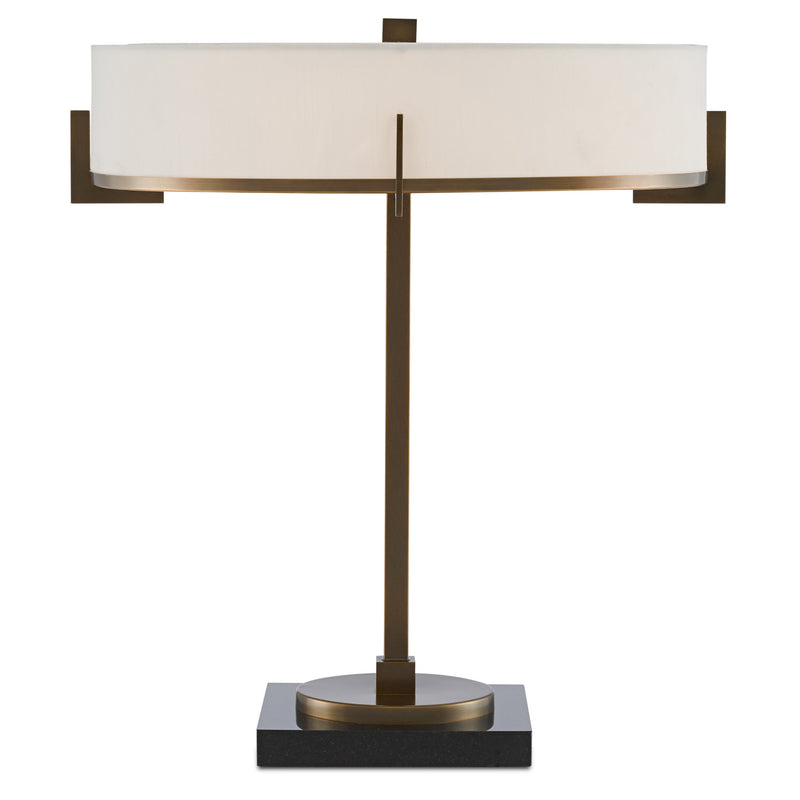 Currey and Company 6000-0438 Jacobi Table Lamp in Antique Brass/Black