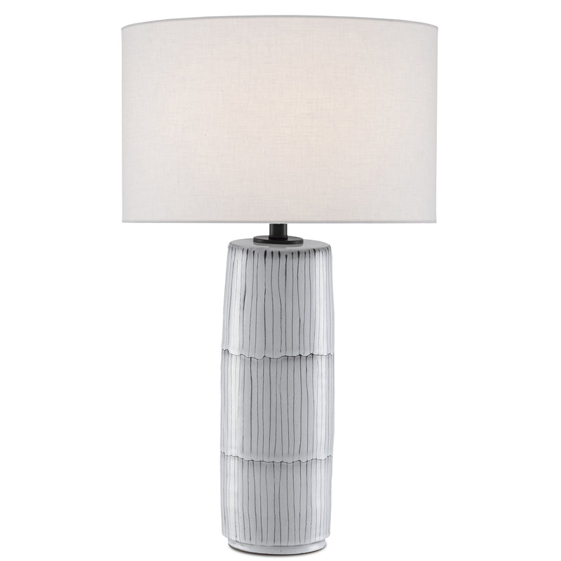 Currey and Company 6000-0445 Chaarla Table Lamp in Off White/Gray