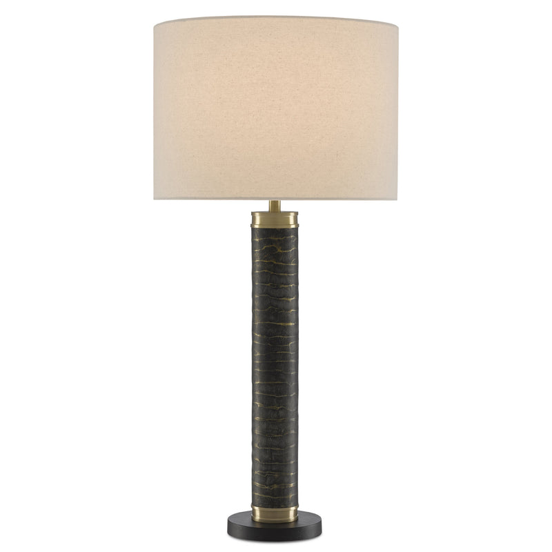 Currey and Company 6000-0481 Bokeh Table Lamp in Gray Antique/Matte Brass/Black