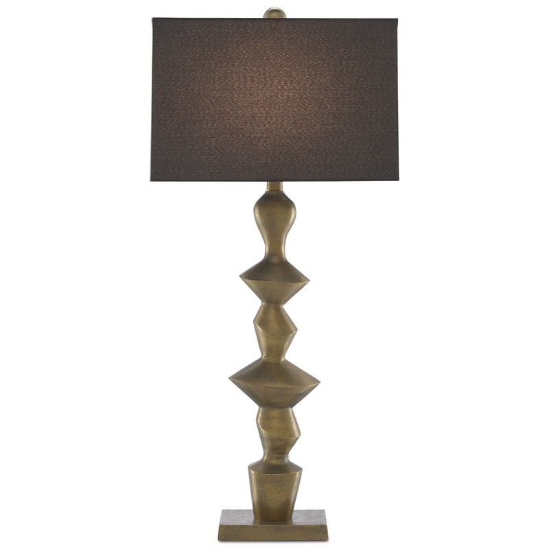 Currey and Company 6000-0531 Reginald Table Lamp in Antique Brass