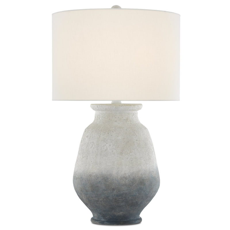 Currey and Company 6000-0538 Cazalet Table Lamp in Ash Ivory/Blue/Acrylic White