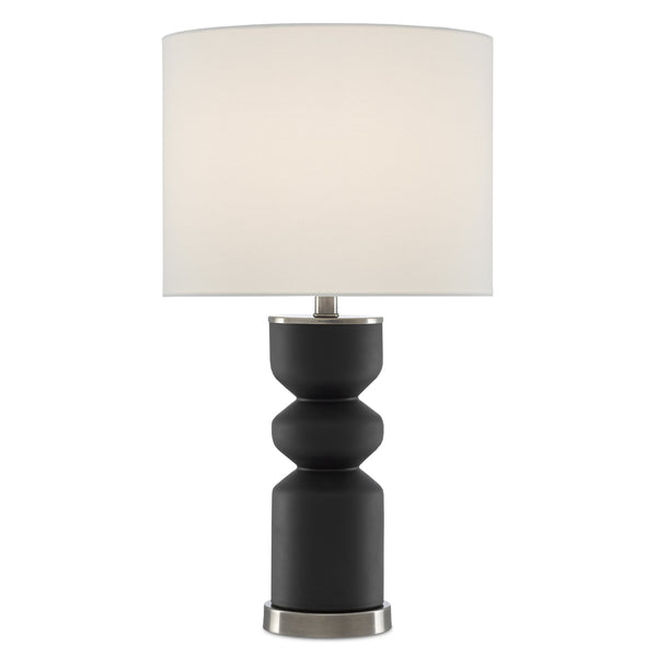 Currey and Company 6000-0579 Anabelle Black Table Lamp in Black/Antique Nickel
