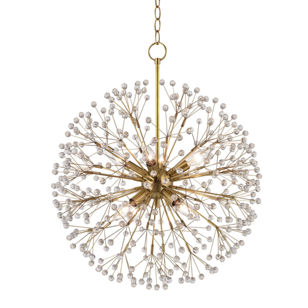Hudson Valley Lighting 6020-AGB Dunkirk 8 Light Chandelier in Aged Brass