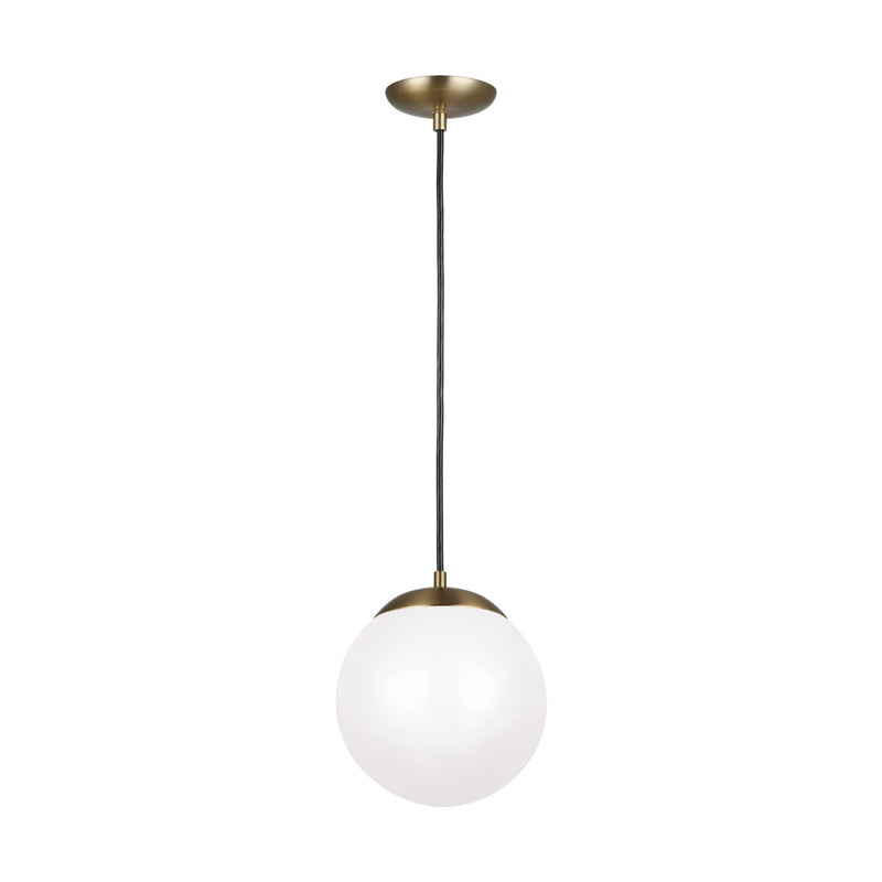 Generation Lighting 602093S-848 Sea Gull Leo - Hanging Globe 1 Light 3000K LED Pendant in Satin Bronze
