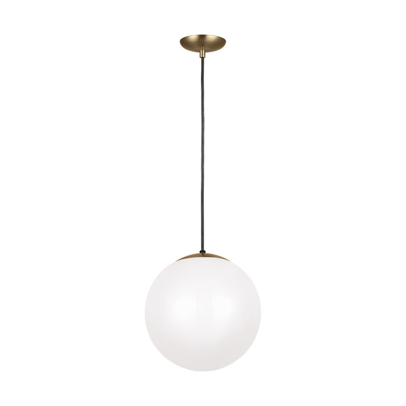Generation Lighting 6024-848 Sea Gull Leo - Hanging Globe 1 Light Pendant in Satin Bronze