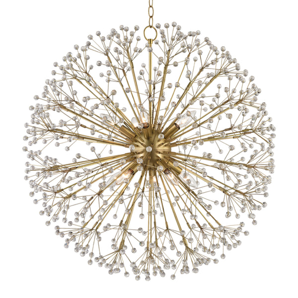 Hudson Valley Lighting 6030-AGB Dunkirk 10 Light Chandelier in Aged Brass