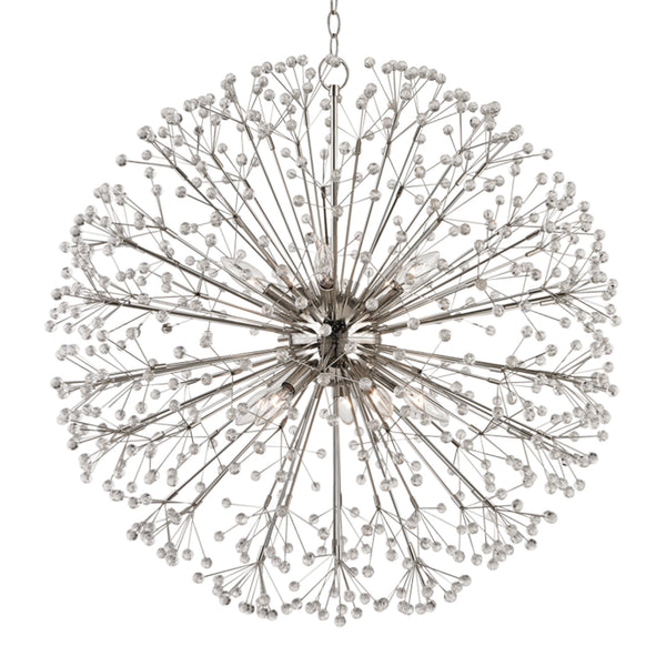 Hudson Valley Lighting 6030-PN Dunkirk 10 Light Chandelier in Polished Nickel