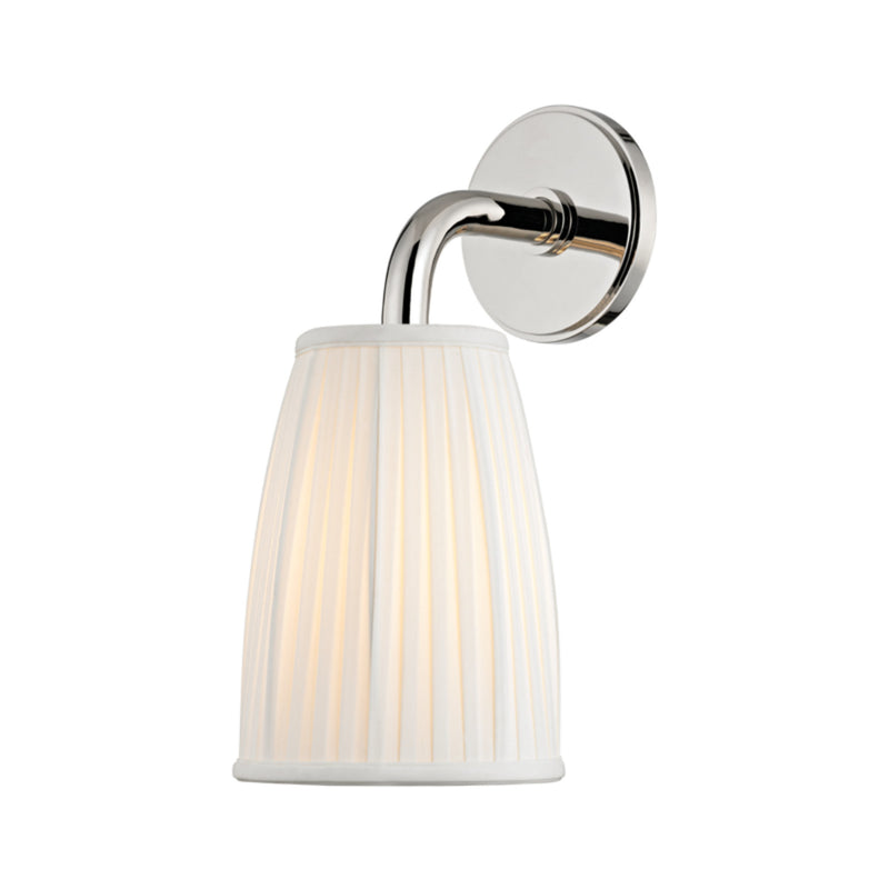 Hudson Valley Lighting 6061-PN Malden 1 Light Wall Sconce in Polished Nickel