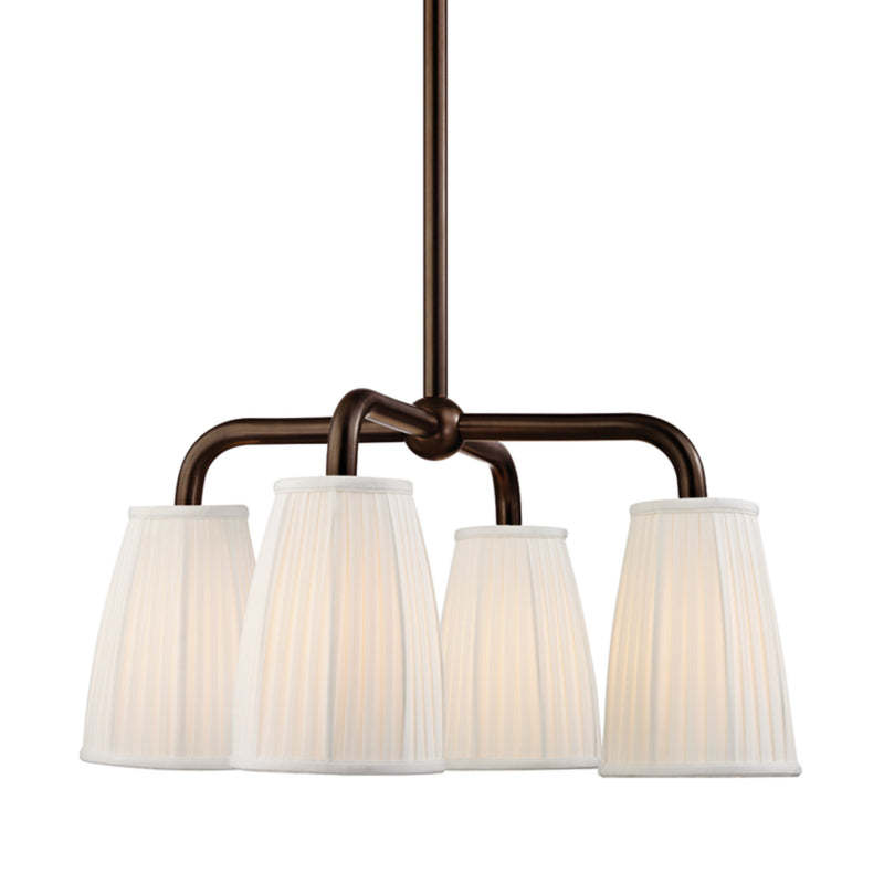 Hudson Valley Lighting 6064-DB Malden 4 Light Chandelier in Distressed Bronze