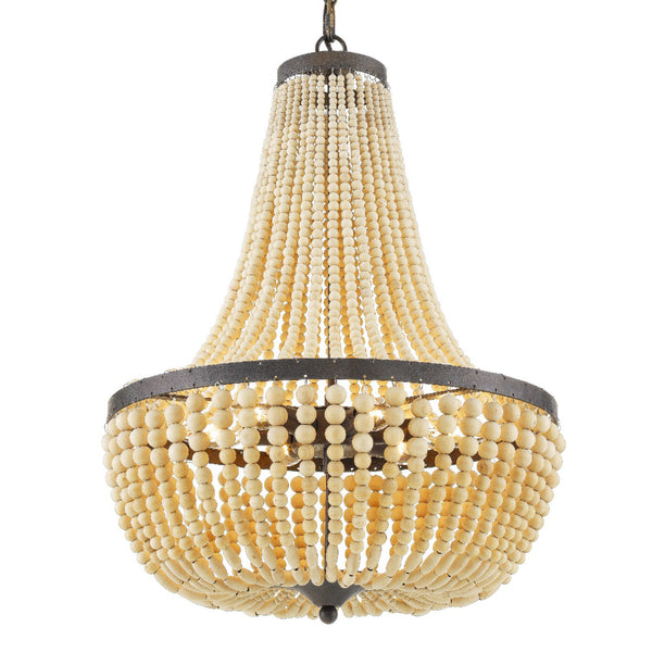 Crystorama 608-FB Rylee Chandelier in Forged Bronze