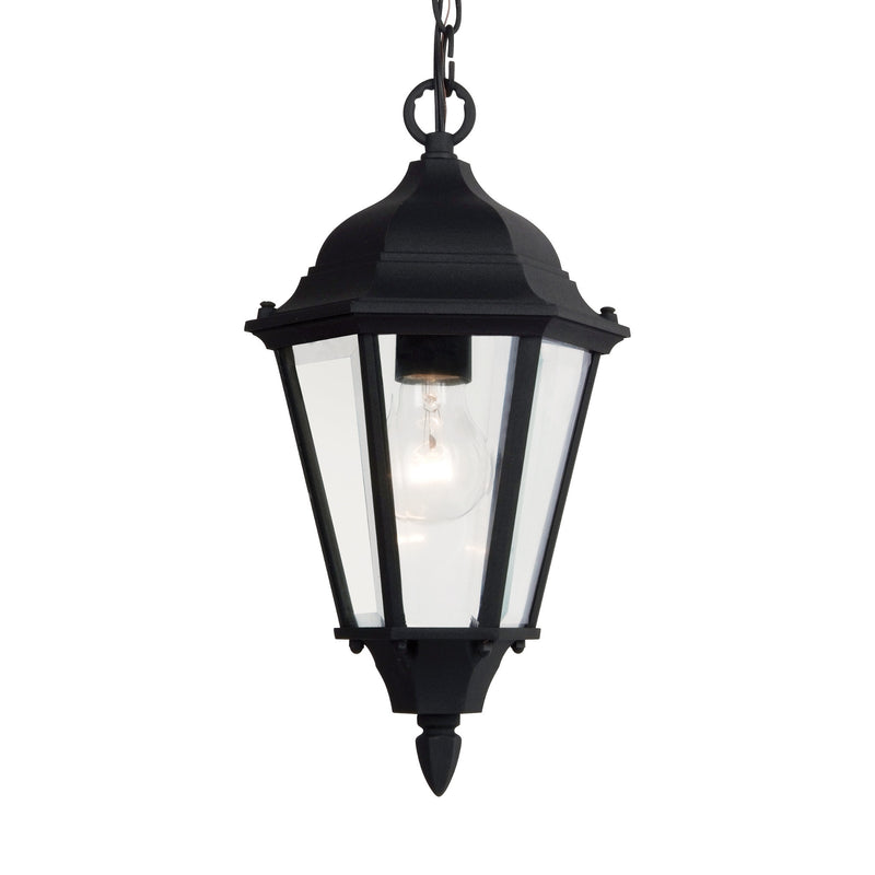 Generation Lighting 60938-12 Sea Gull Bakersville 1 Light Outdoor Light in Black