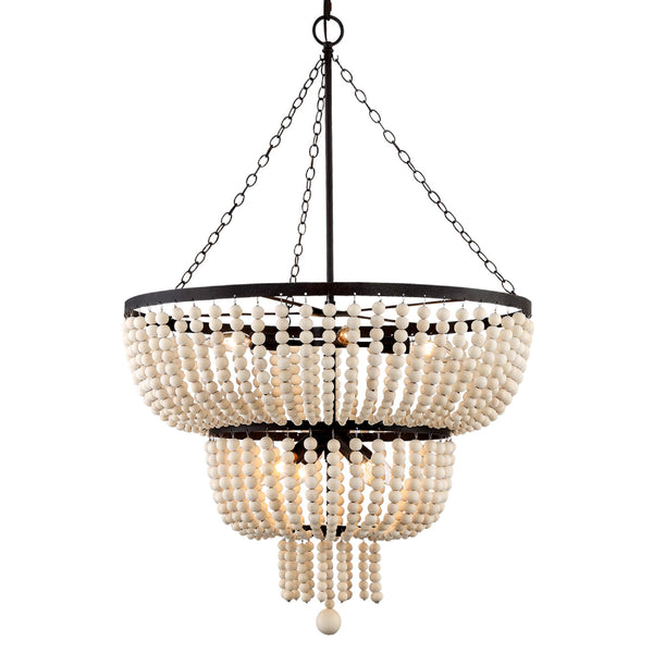 Crystorama 610-FB Rylee Chandelier in Forged Bronze