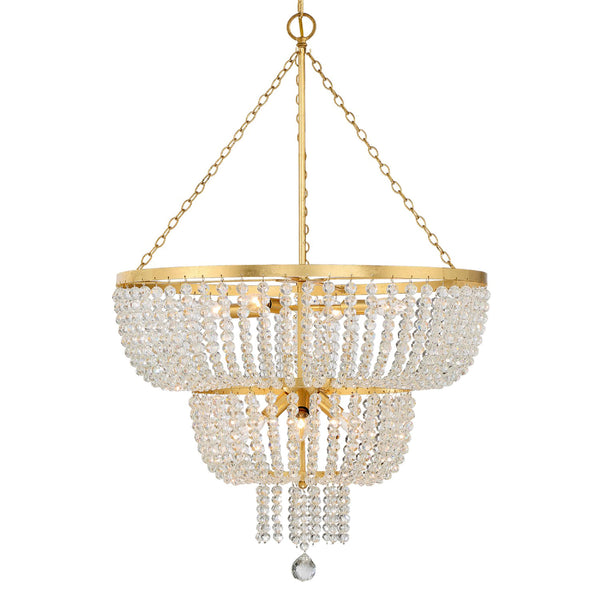 Crystorama 610-GA Rylee Chandelier in Antique Gold