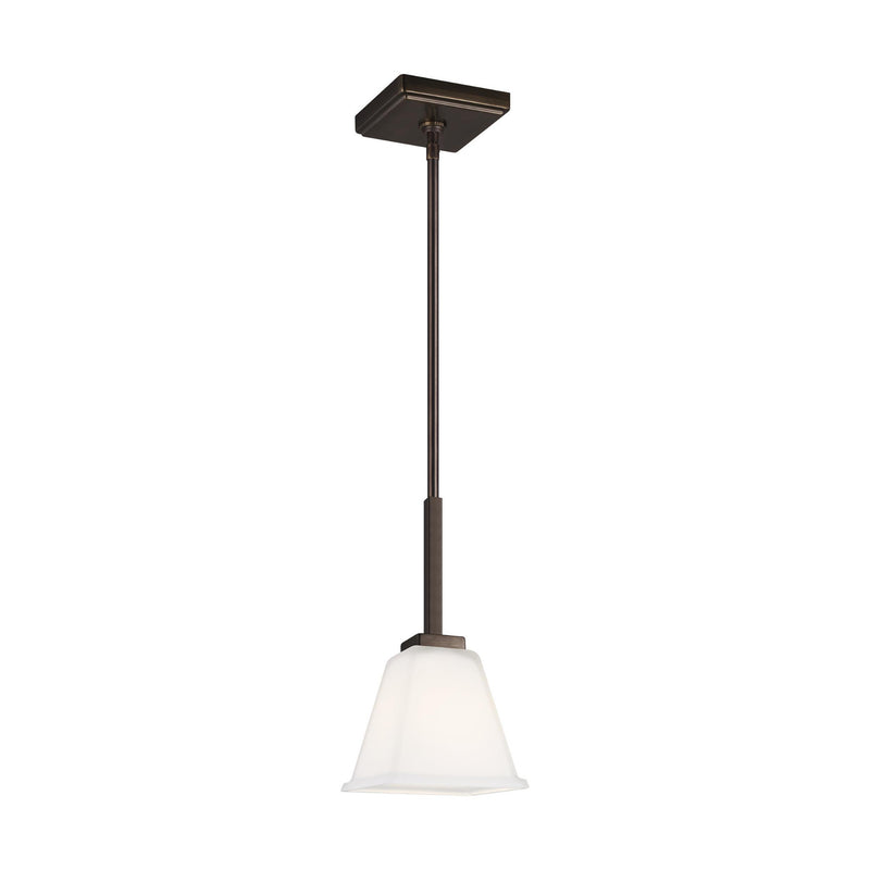 Generation Lighting 6113701-778 Sea Gull Ellis Harper 1 Light Pendant in Brushed Oil Rubbed Bronze