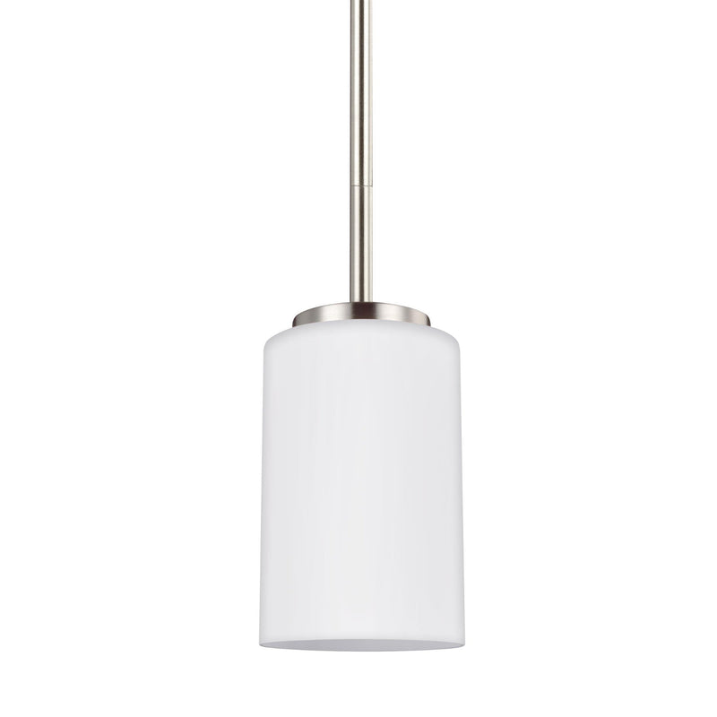 Generation Lighting 61160-962 Sea Gull Oslo 1 Light Pendant in Brushed Nickel
