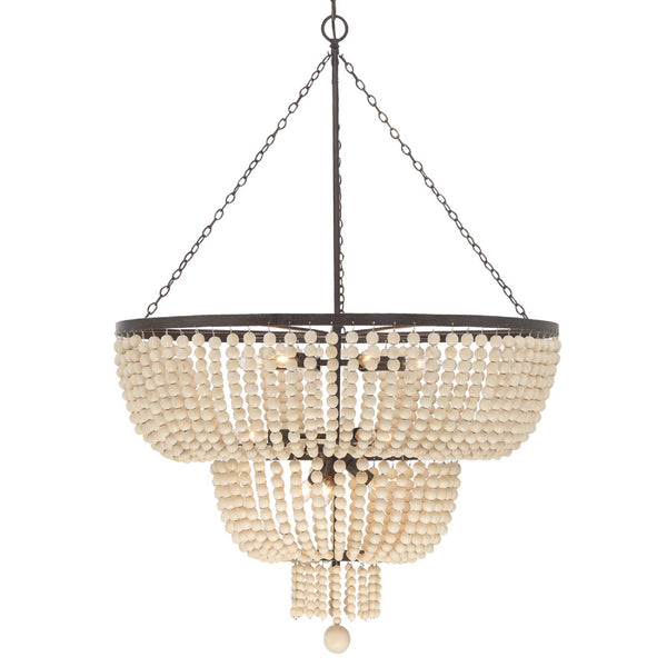 Crystorama 612-FB Rylee Chandelier in Forged Bronze