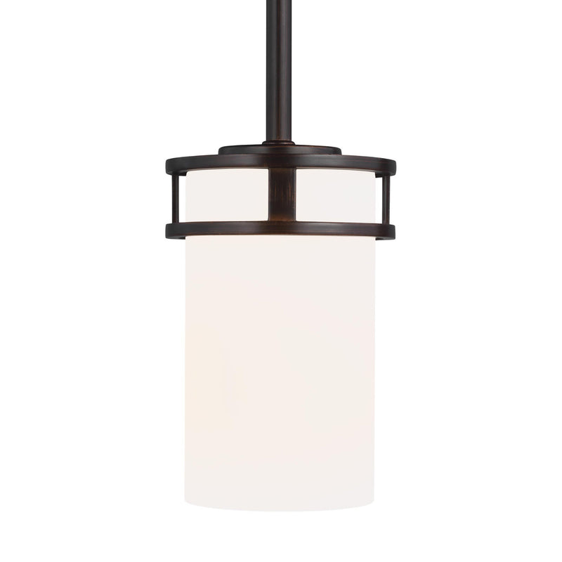 Generation Lighting 6121601-710 Sea Gull Robie 1 Light Pendant in Burnt Sienna