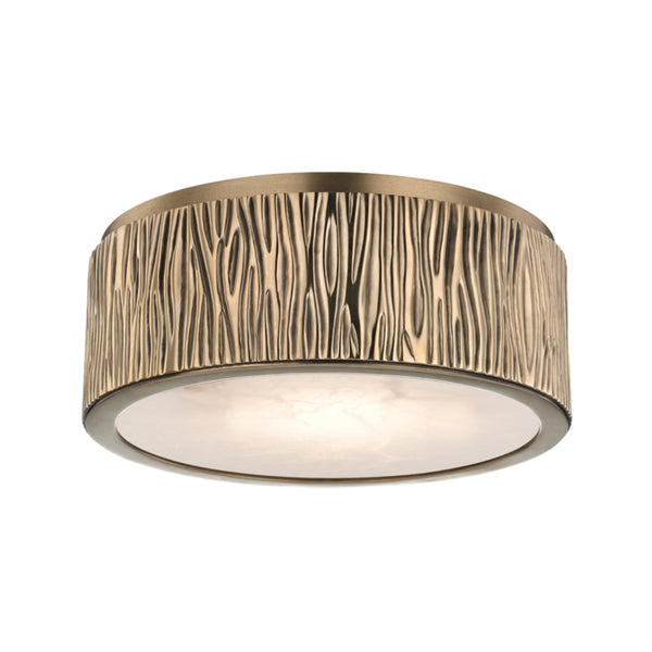 Hudson Valley Lighting 6209-AGB Crispin Small Led Flush Mount in Aged Brass
