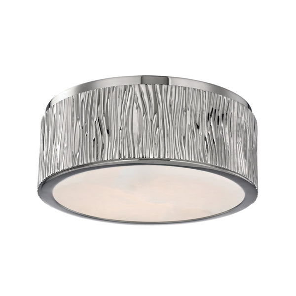 Hudson Valley Lighting 6209-PN Crispin Small Led Flush Mount in Polished Nickel