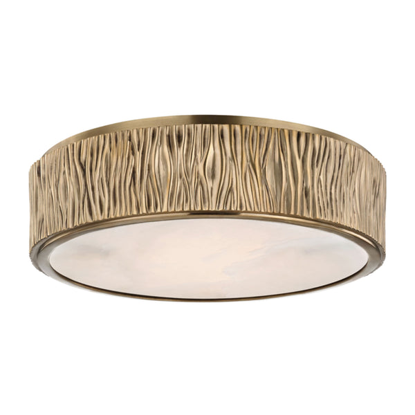 Hudson Valley Lighting 6213-AGB Crispin Large Led Flush Mount in Aged Brass