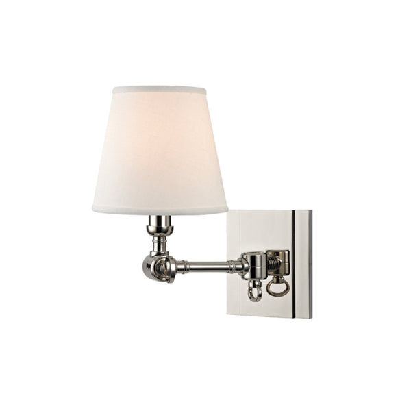 Hudson Valley Lighting 6231-PN Hillsdale 1 Light Wall Sconce in Polished Nickel
