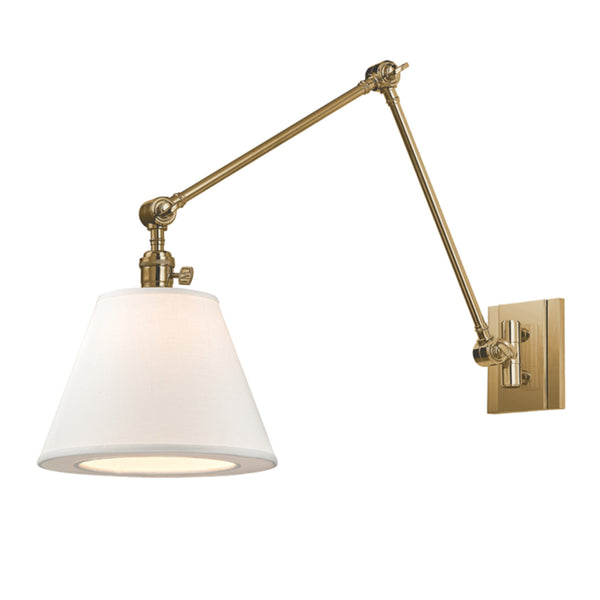 Hudson Valley Lighting 6234-AGB Hillsdale 1 Light Swing Arm Wall Sconce in Aged Brass