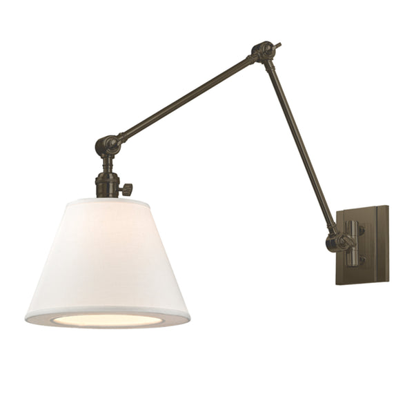 Hudson Valley Lighting 6234-OB Hillsdale 1 Light Swing Arm Wall Sconce in Old Bronze