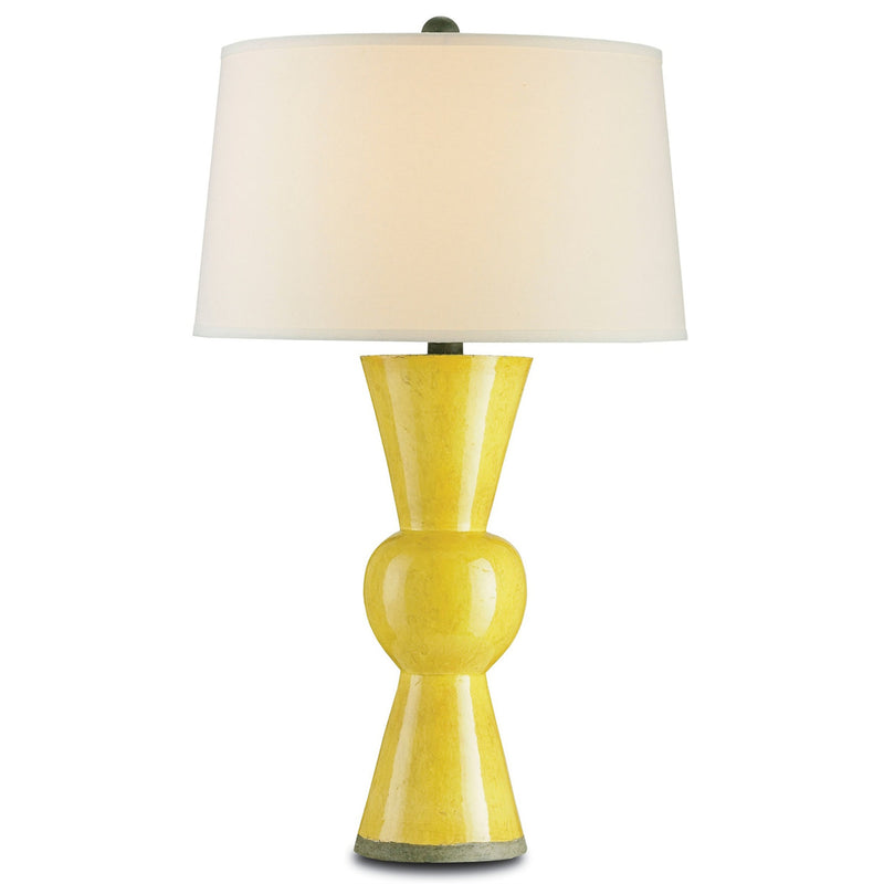 Currey and Company 6382 Upbeat Yellow Table Lamp in Yellow
