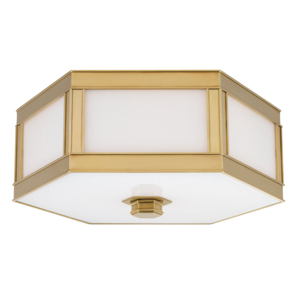 Hudson Valley Lighting 6416-AGB Nassau 3 Light Flush Mount in Aged Brass